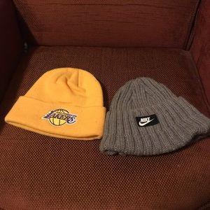 2 winter caps
